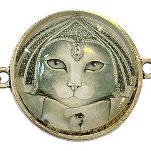 Cleopatra Cat Beaded Bracelet NEW